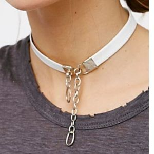 Free People Jewelry - Free People x luiny Leather Lock Choker Necklace